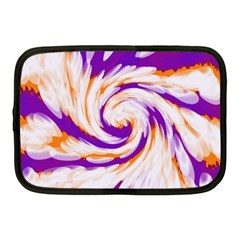 Tie Dye Purple Orange Abstract Swirl Netbook Case (medium)  by BrightVibesDesign