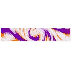 Tie Dye Purple Orange Abstract Swirl Flano Scarf (large)  by BrightVibesDesign