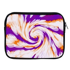 Tie Dye Purple Orange Abstract Swirl Apple Ipad 2/3/4 Zipper Cases by BrightVibesDesign