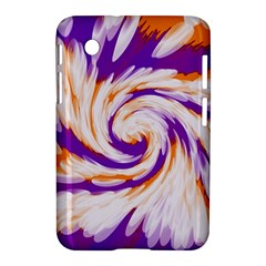Tie Dye Purple Orange Abstract Swirl Samsung Galaxy Tab 2 (7 ) P3100 Hardshell Case  by BrightVibesDesign