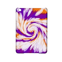 Tie Dye Purple Orange Abstract Swirl Ipad Mini 2 Hardshell Cases by BrightVibesDesign