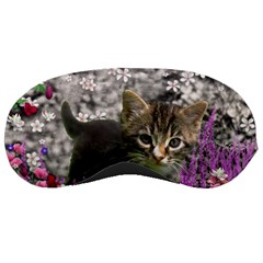 Emma In Flowers I, Little Gray Tabby Kitty Cat Sleeping Masks by DianeClancy