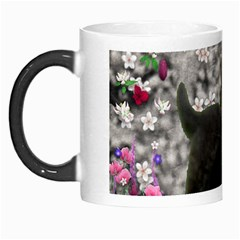 Emma In Flowers I, Little Gray Tabby Kitty Cat Morph Mugs by DianeClancy