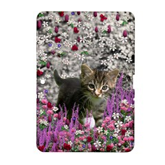 Emma In Flowers I, Little Gray Tabby Kitty Cat Samsung Galaxy Tab 2 (10 1 ) P5100 Hardshell Case  by DianeClancy