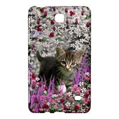 Emma In Flowers I, Little Gray Tabby Kitty Cat Samsung Galaxy Tab 4 (8 ) Hardshell Case  by DianeClancy