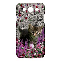 Emma In Flowers I, Little Gray Tabby Kitty Cat Samsung Galaxy Mega 5 8 I9152 Hardshell Case  by DianeClancy