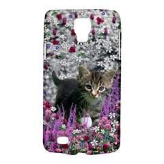 Emma In Flowers I, Little Gray Tabby Kitty Cat Galaxy S4 Active by DianeClancy