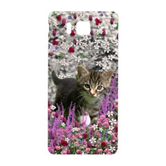 Emma In Flowers I, Little Gray Tabby Kitty Cat Samsung Galaxy Alpha Hardshell Back Case by DianeClancy