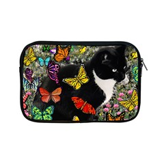 Freckles In Butterflies I, Black White Tux Cat Apple Ipad Mini Zipper Cases by DianeClancy