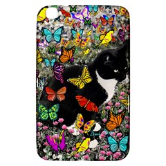 Freckles In Butterflies I, Black White Tux Cat Samsung Galaxy Tab 3 (8 ) T3100 Hardshell Case  by DianeClancy