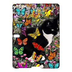 Freckles In Butterflies I, Black White Tux Cat Samsung Galaxy Tab S (10 5 ) Hardshell Case  by DianeClancy