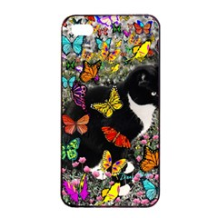 Freckles In Butterflies I, Black White Tux Cat Apple Iphone 4/4s Seamless Case (black) by DianeClancy