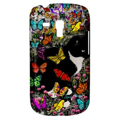 Freckles In Butterflies I, Black White Tux Cat Samsung Galaxy S3 Mini I8190 Hardshell Case by DianeClancy