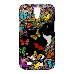 Freckles In Butterflies I, Black White Tux Cat Samsung Galaxy Mega 6 3  I9200 Hardshell Case by DianeClancy