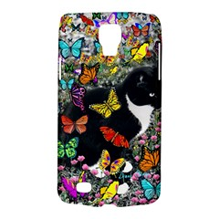Freckles In Butterflies I, Black White Tux Cat Galaxy S4 Active by DianeClancy