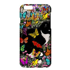 Freckles In Butterflies I, Black White Tux Cat Apple Iphone 6 Plus/6s Plus Hardshell Case by DianeClancy