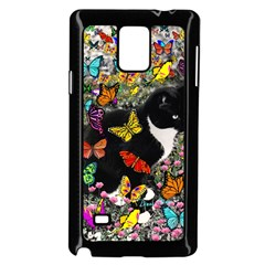 Freckles In Butterflies I, Black White Tux Cat Samsung Galaxy Note 4 Case (black) by DianeClancy