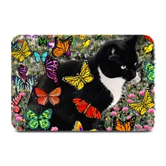 Freckles In Butterflies I, Black White Tux Cat Plate Mats by DianeClancy
