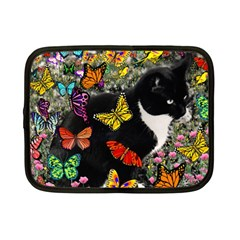 Freckles In Butterflies I, Black White Tux Cat Netbook Case (small)  by DianeClancy