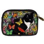 Freckles In Butterflies I, Black White Tux Cat Digital Camera Cases Back