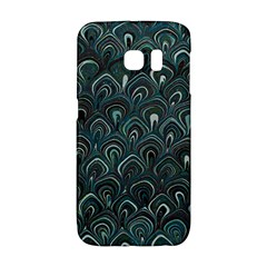 Peacock Pattern Teal Galaxy S6 Edge by Bermudezyns