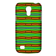 Bright Green Orange Lines Stripes Galaxy S4 Mini by BrightVibesDesign