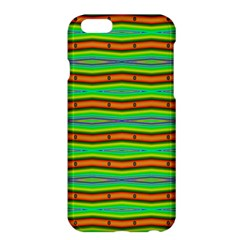 Bright Green Orange Lines Stripes Apple Iphone 6 Plus/6s Plus Hardshell Case by BrightVibesDesign