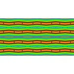 Bright Green Orange Lines Stripes Laugh Live Love 3D Greeting Card (8x4)  Front