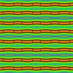 Bright Green Orange Lines Stripes Laugh Live Love 3D Greeting Card (8x4)  Inside