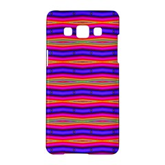 Bright Pink Purple Lines Stripes Samsung Galaxy A5 Hardshell Case  by BrightVibesDesign