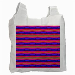 Bright Pink Purple Lines Stripes Recycle Bag (one Side) by BrightVibesDesign