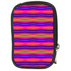Bright Pink Purple Lines Stripes Compact Camera Cases by BrightVibesDesign