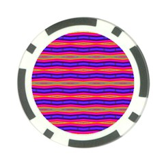 Bright Pink Purple Lines Stripes Poker Chip Card Guards (10 Pack)  by BrightVibesDesign
