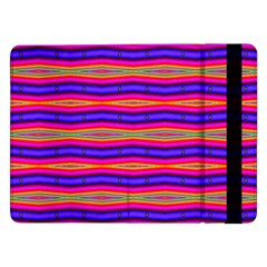 Bright Pink Purple Lines Stripes Samsung Galaxy Tab Pro 12 2  Flip Case by BrightVibesDesign