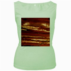Red Earth Natural Women s Green Tank Top by UniqueCre8ion