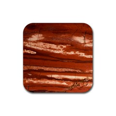 Red Earth Natural Rubber Coaster (square)  by UniqueCre8ion