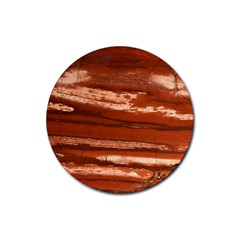 Red Earth Natural Rubber Coaster (round)  by UniqueCre8ion
