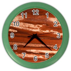Red Earth Natural Color Wall Clocks by UniqueCre8ion