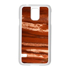 Red Earth Natural Samsung Galaxy S5 Case (white) by UniqueCre8ion