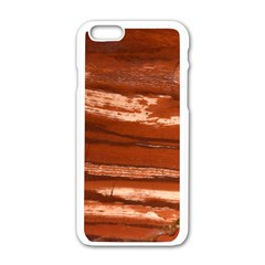 Red Earth Natural Apple Iphone 6/6s White Enamel Case by UniqueCre8ion