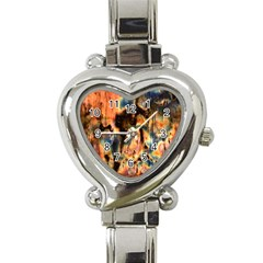 Naturally True Colors  Heart Italian Charm Watch by UniqueCre8ions
