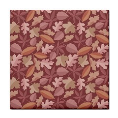 Marsala Leaves Pattern Tile Coasters by sifis