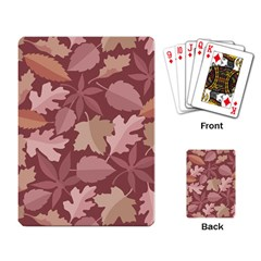 Marsala Leaves Pattern Playing Card by sifis