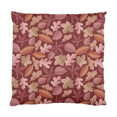 Marsala Leaves Pattern Standard Cushion Case (two Sides) by sifis