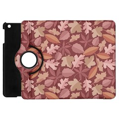 Marsala Leaves Pattern Apple Ipad Mini Flip 360 Case by sifis