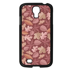 Marsala Leaves Pattern Samsung Galaxy S4 I9500/ I9505 Case (black) by sifis