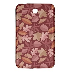 Marsala Leaves Pattern Samsung Galaxy Tab 3 (7 ) P3200 Hardshell Case  by sifis