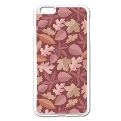 Marsala Leaves Pattern Apple Iphone 6 Plus/6s Plus Enamel White Case by sifis
