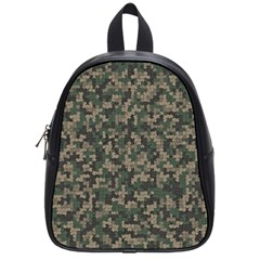 Jungle Camo Pattern School Bags (small)  by Bermudezyns