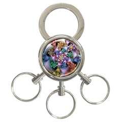 Bright Taffy Spiral 3 Ring Key Chains